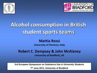 Alcohol consumption in British student sports teams