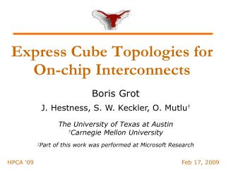 Express Cube Topologies for On-chip Interconnects