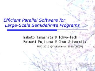 Efficient Parallel Software for  Large-Scale Semidefinite Programs
