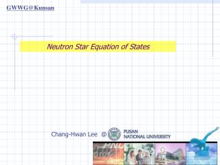 Neutron Star Equation of States