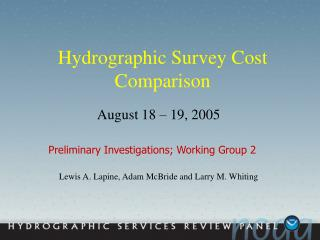 Hydrographic Survey Cost Comparison