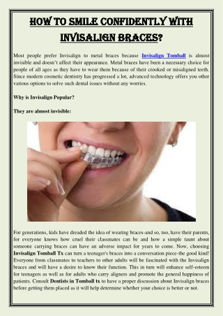 How To Smile Confidently With Invisalign Braces