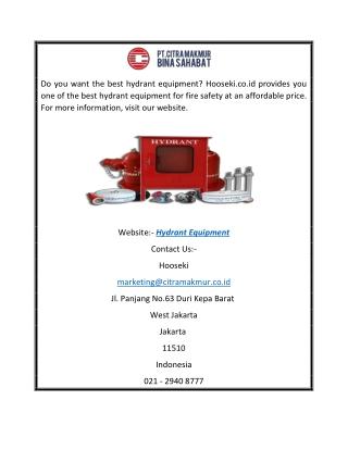 Hydrant Equipment   Hooseki.co.id