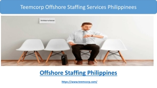 Teemcorp Offshore Staffing Services Philippines Services