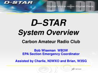 D–STAR System Overview