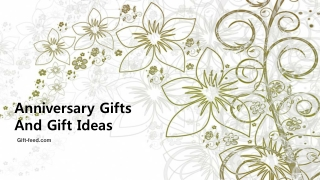 Importance of anniversary gifts