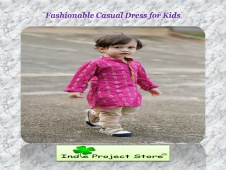 Fashionable Casual Dress For Kids