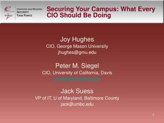 Securing Your Campus: What Every CIO Should Be Doing