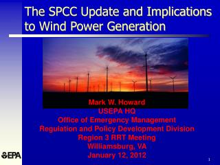 The SPCC Update and Implications to Wind Power Generation