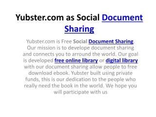 Yubster Social Document Sharing