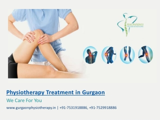 Best Physiotherapy Treatment in Gurgaon