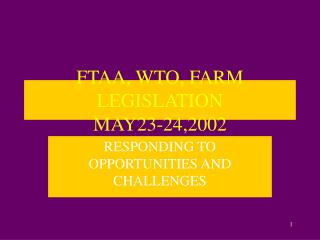 FTAA, WTO, FARM LEGISLATION MAY23-24,2002