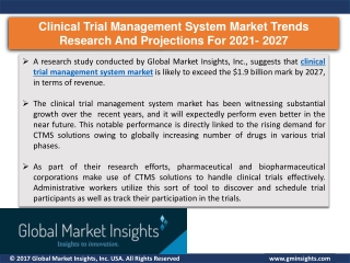 Analysis of Clinical trial management system market applications and company's a