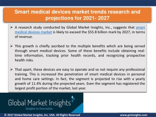 Major Key Players of Smart medical devices market & Industry share 2021–2027