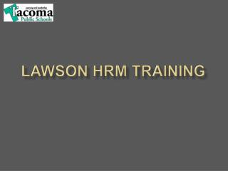 Lawson HRM Training