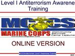 Level I Antiterrorism Awareness Training