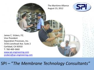 "SPI – "" The Membrane Technology Consultants"""