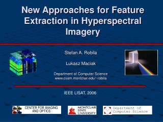 New Approaches for Feature Extraction in Hyperspectral Imagery