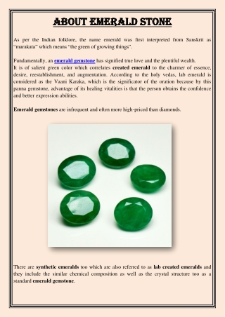 About Emerald Stone