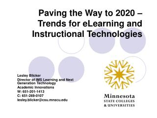 Paving the Way to 2020   Trends for eLearning and Instructional Technologies