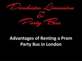 Best Prom Party Bus in London at Dorchester Limo