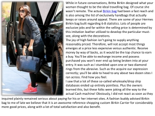 There are some of your Hermes Birkin bag built