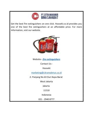 Fire extinguishers   Hooseki.co.id