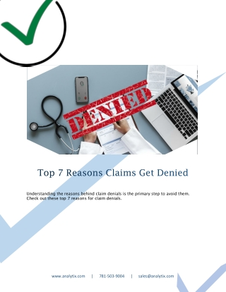 Top 7 Reasons Claims Get Denied
