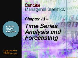 Chapter 13 – Time Series Analysis and Forecasting