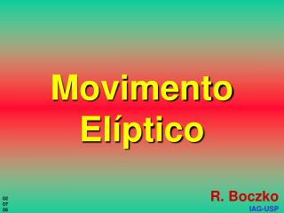Movimento Elíptico