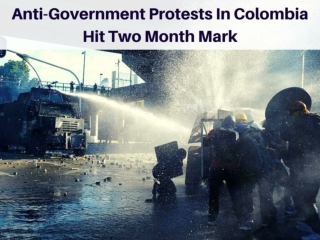 Anti-government protests in Colombia hit two month mark