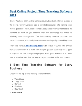 Best Online Project Time Tracking Software 2021-converted