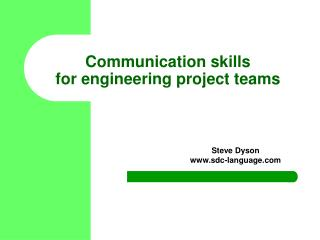 Communication skills for engineering project teams
