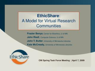 CNI Spring Task Force Meeting  | April 7, 2009