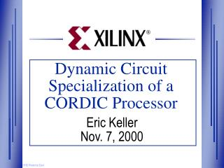 Dynamic Circuit Specialization of a CORDIC Processor