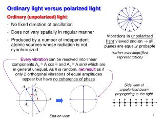 Ordinary light versus polarized light