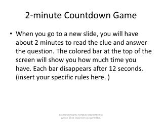2-minute Countdown Game