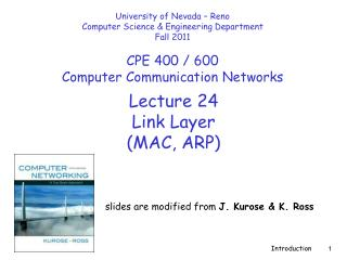 Lecture  24 Link Layer  (MAC, ARP)