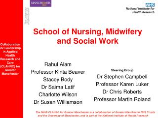 School of Nursing, Midwifery and Social Work