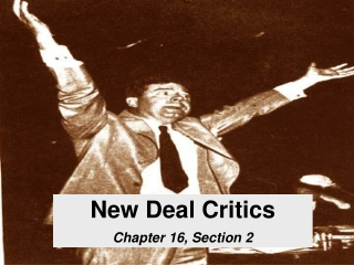 New Deal Critics Chapter 16, Section 2