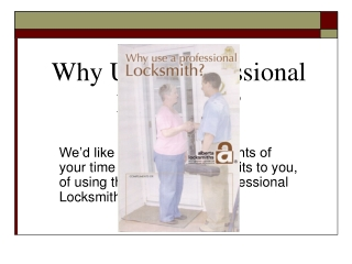 Why Use a Professional Locksmith