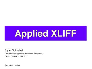 Applied XLIFF