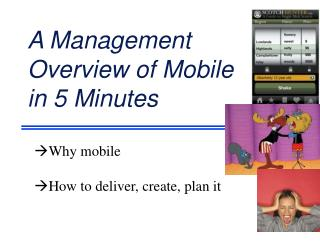 A Management  Overview of Mobile in 5 Minutes
