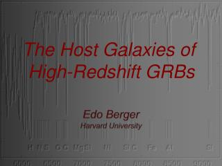 Edo  Berger Harvard  University