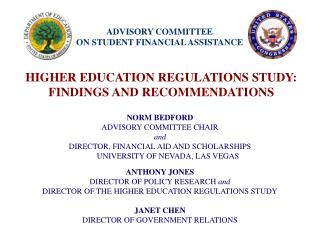 ADVISORY COMMITTEE  ON STUDENT FINANCIAL ASSISTANCE