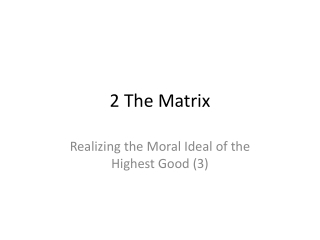 2 The Matrix