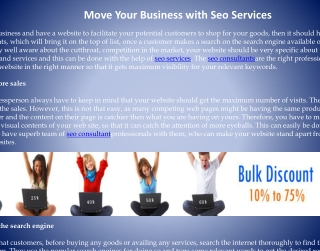 Move Your Business with Seo Services
