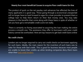 bad credit loan lenders online