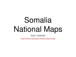 Somalia National Maps