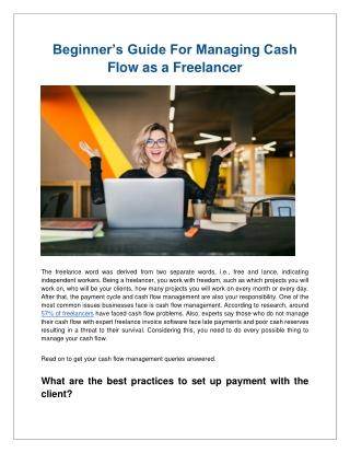 Beginner's Guide For Managing Cash Flow as a Freelancer-converted